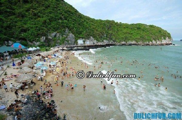 Bãi tắm Cát Cò Cát Bà, điểm đến hấp dẫn, đẹp thu hút lượng khách du lịch lớn tới Hải Phòng.