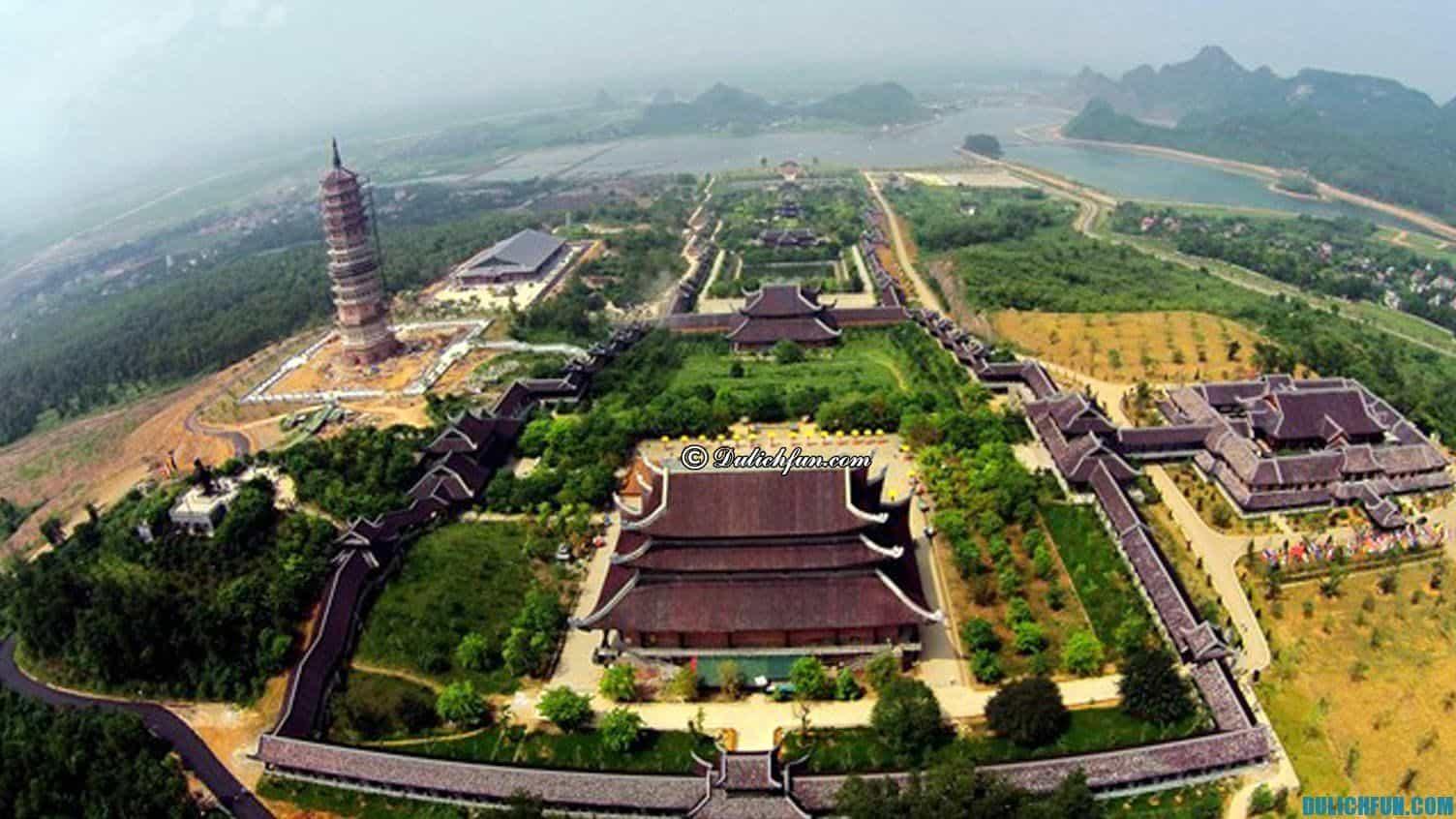 Chùa Bái Đính kinh nghiệm du lịch Bái Đính Tràng An, ngôi chùa xác lập nhiều kỉ lục trong nước và châu Á