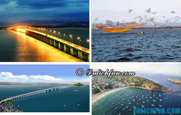 Đầm Thị Nại địa danh du lịch nổi tiếng Bình Định. Nơi đây đa dạng hệ sinh thái mang lại cảm giác yên bình cho du khách