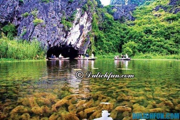 Đầm Vân Long, khu bảo tồn thiên nhiên tại Ninh Bình. Nơi đây thu hút khách du lịch tham quan hệ sinh thái rừng ngập nước đa dạng phong phú.