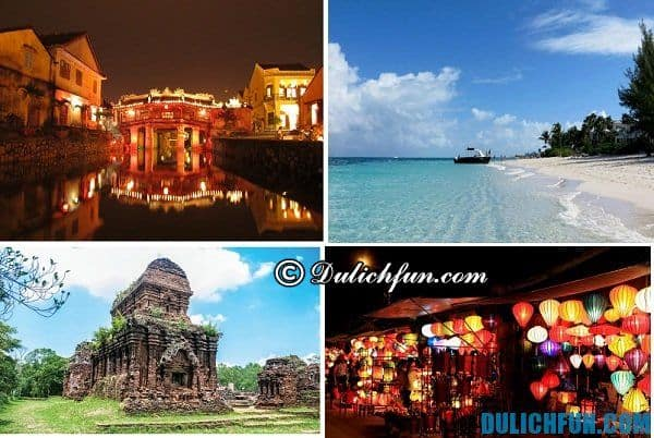 Quảng Nam nổi tiếng với nhiều địa danh du lịch đẹp hấp dẫn, thu hút đông đảo khách du lịch như Thánh địa Mỹ Sơn, Cù Lao Chàm, phố cổ Hội An, đây là nơi nên đến trong chuyến nghỉ dài ngày của bạn.
