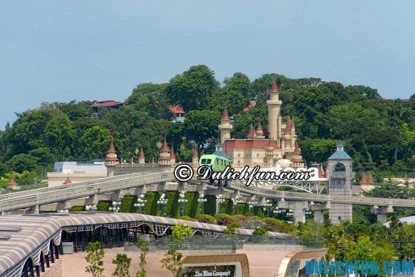 Kinh nghiệm du lịch Singapore tiết kiệm giá rẻ, khu vui chơi nổi tiếng hấp dẫn trên đảo Sentosa
