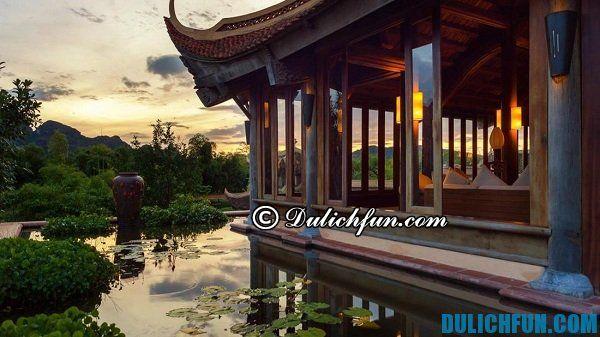 Khách sạn, khu nghỉ dưỡng giá rẻ, chất lượng, nội thất đẹp tiện nghi, dịch vụ hoàn hảo ở Ninh Bình. Du lịch đầm Vân Long nên ở đâu, ăn gì?