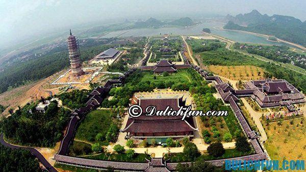 Quần thể danh thắng du lịch Tràng An Bái Đính điểm du lịch hấp dẫn thu hút du khách, chùa Bái Đính cổ kính, đẹp huyền ảo