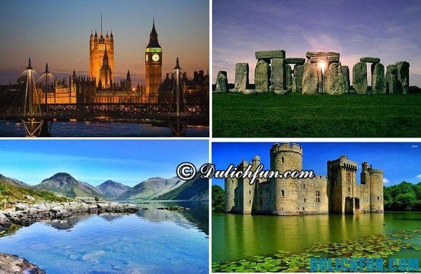 Kinh nghiệm du lịch Anh Quốc: Những địa điểm du lịch nước Anh nổi tiếng đẹp như tháp đồng hồ Big Ben, các tòa lâu đài cổ, hồ District, và nhiều địa danh du lịch thú vị khác chờ bạn khám phá