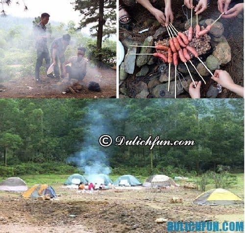 Kinh nghiệm du lịch phượt núi hàm lợn. Cắm trại trên núi hàm lợn