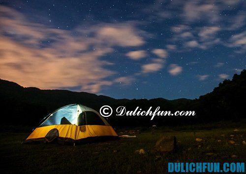 Kinh nghiệm phượt núi Hàm Lợn 2 ngày 1 đêm.Địa điểm cắm trại qua đêm tại núi hàm lợn.
