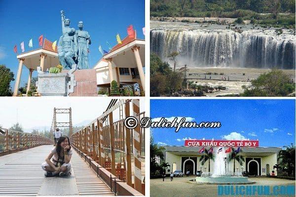 Kinh nghiệm phượt Kon Tum: Những địa danh du lịch nổi tiếng của Kon Tum, địa điểm du lịch nổi tiếng hấp dẫn như khu sinh thái, cửa khẩu Bờ Y, Cầu treo Kon Klor, tòa giám mục Kon Tum