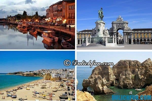 Những địa điểm du lịch nổi tiếng đẹp hấp dẫn của Bồ Đào Nha nên ghé thăm. Địa danh đẹp bởi có biển bao quanh,có những khu phố sầm uất với lâu đài và cung điện nguy nga tráng lệ