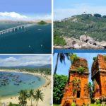 Những địa điểm vui vhơi hấp dẫn nổi tiếng ở Quy Nhơn, như cù lao xanh, biển Quy Nhơn, tháp Đôi... những địa điểm không nên bỏ lỡ