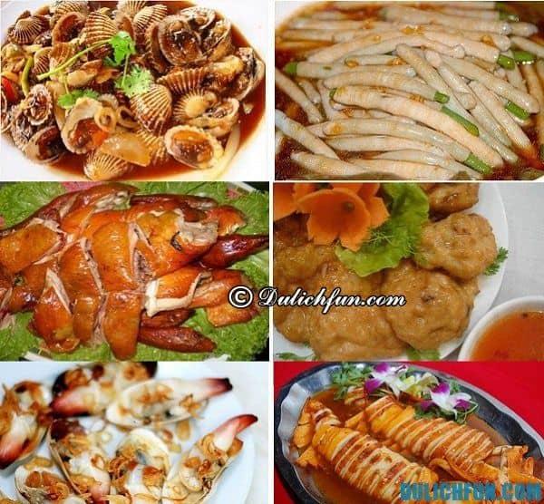 Những món ăn đặc sản Hạ Long hấp dẫn thơm ngon: tu hài, sam, mực, sá sùng... là những món ăn ngon thu hút khách du lịch thưởng thức và mua về làm quà cho bạn bè và người thân