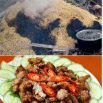 Thịt dê ủ trấu một trong những món thịt dê ngon nổi tiếng ở Ninh Bình