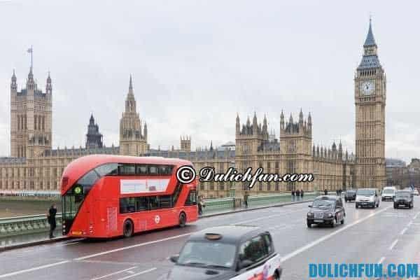 Kinh nghiệm du lịch Anh: Phương tiện di chuyển ở nước Anh phổ biến nhất là xe bus và tàu hỏa, hướng dẫn cách di chuyển khi du lịch Anh Quốc