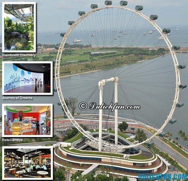 Singapore Flyer điểm du lịch, điểm vui chơi nổi tiếng hấp dẫn ở Singapore bạn nên ghé thăm.
