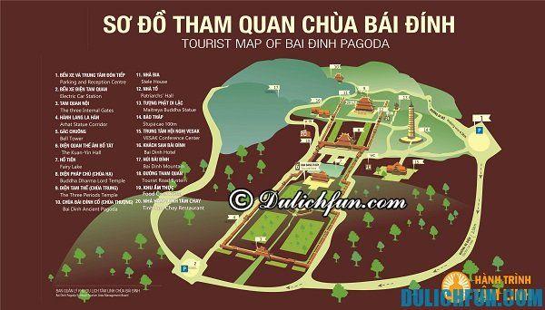 Sơ đồ tham quan chùa Bái Đính. Kinh nghiệm du lịch chùa Bái Đính ngôi chùa linh thiêng và lớn nhất Đông Nam Á