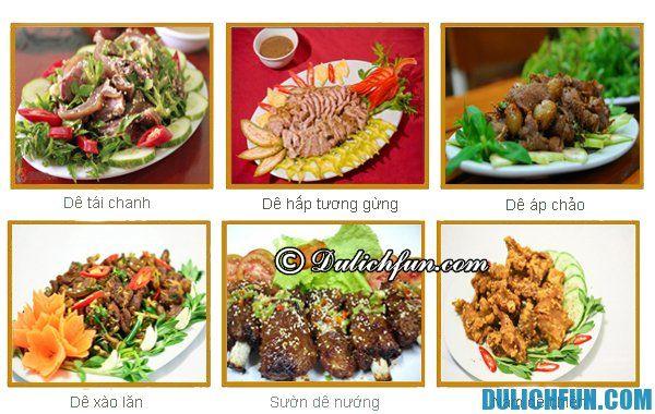 Thịt dê núi Ninh Bình, món ăn thơm ngon bổ dưỡng được chế biến theo nhiều cách khác nhau: hâp, nướng, luộc, xả, tái chanh...