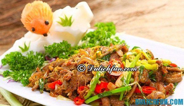 Thịt dê xào thập cẩm món ngon nổi tiếng đất Ninh Bình