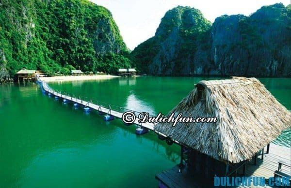 Kinh nghiệm du lịch Cát Bà - Vịnh Lan Hạ đẹp nổi tiếng bởi nước mát, không khi trong lành, bãi tắm đẹp, hoang sơ