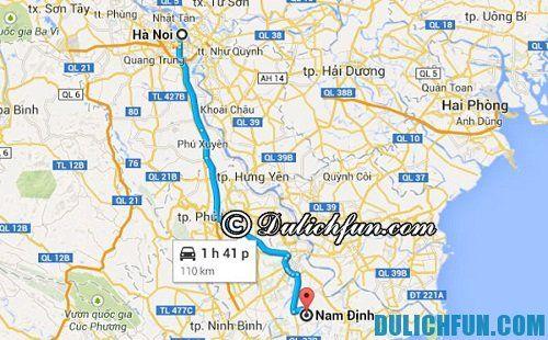 Cẩm nang du lịch Nam Định: đường đi từ Hà Nội đến Nam Định