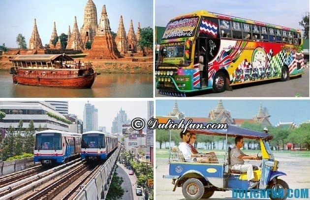 Cẩm nang du lịch Bangkok - Phương tiện di chuyển