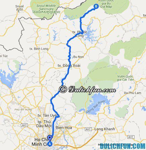 Hướng dẫn du lịch Bình Phước - Phương tiện di chuyển