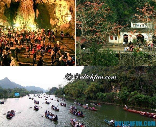 Các tuyến tham quan chính ở chùa Hương