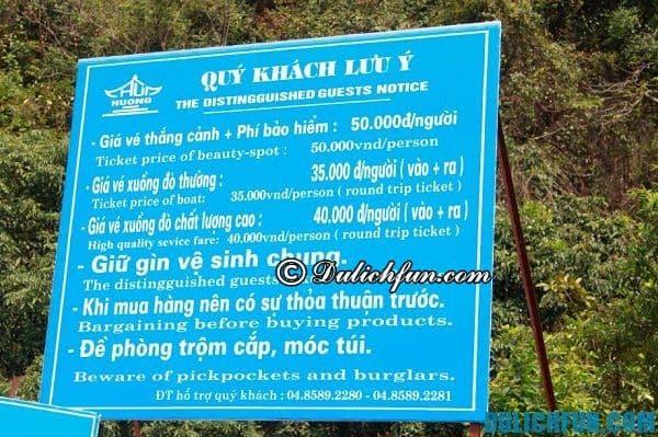 Những lưu ý khi du lịch chùa Hương