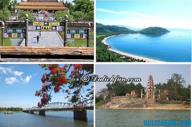 Hướng dẫn du lịch Huế - Địa điểm tham quan đẹp, nổi tiếng ở Huế