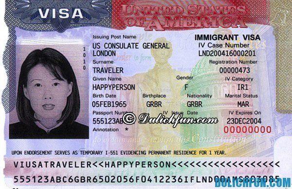 Hướng dẫn du lịch Mỹ - xin Visa nhập cảnh
