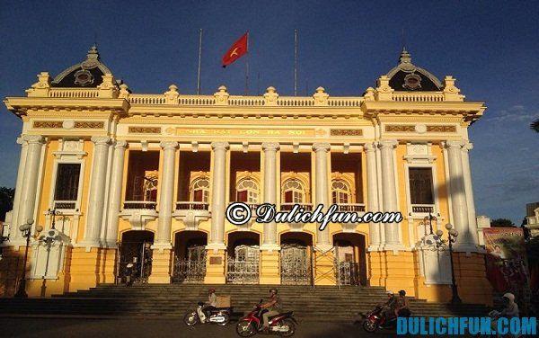 Biểu tượng ở Hà Nội nhà hát lớn, điểm du lịch nổi tiếng, đẹp ở Hà Nội