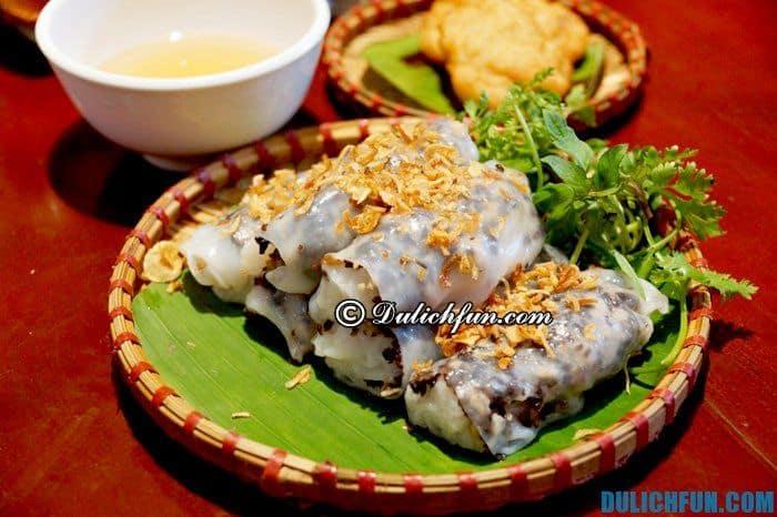Đặc sản thủ đô, món bánh cuốn Thanh Trì.Những món ăn đặc sản ở Hà Nội ngon, hấp dẫn nên thử. Đi chơi, du lịch Hà Nội nên ăn gì, ở đâu ngon, rẻ và sạch sẽ nhất