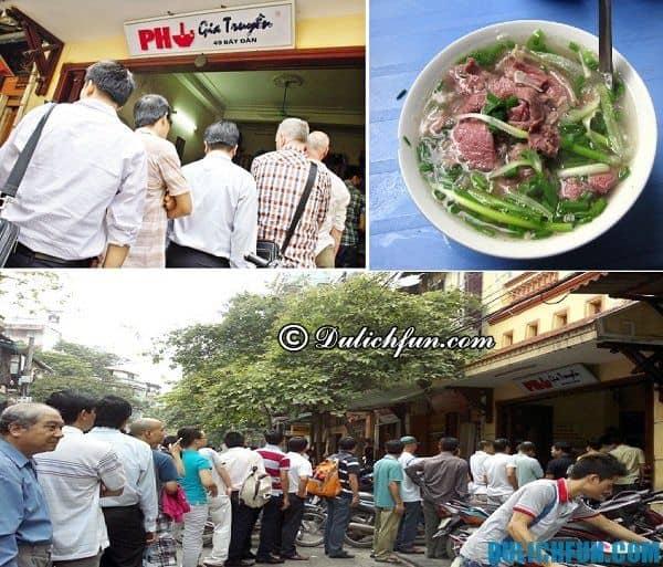 Những quán phở ngon nhất ở Hà Nội, địa điểm, giá thành. Địa chỉ, thông tin đánh giá những quán phở nổi tiếng nhất ở Hà Nội.