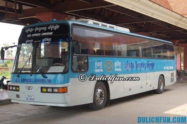 Kinh nghiệm du lịch Bangkok - Xe bus đi từ Sài Gòn tới Thái Lan