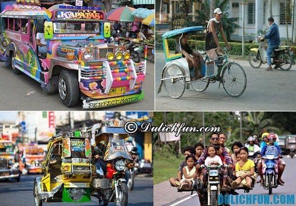 Kinh nghiệm du lịch Phlippines: Cách di chuyển ở Philippines, phương tiện giao thông ở Phlippines
