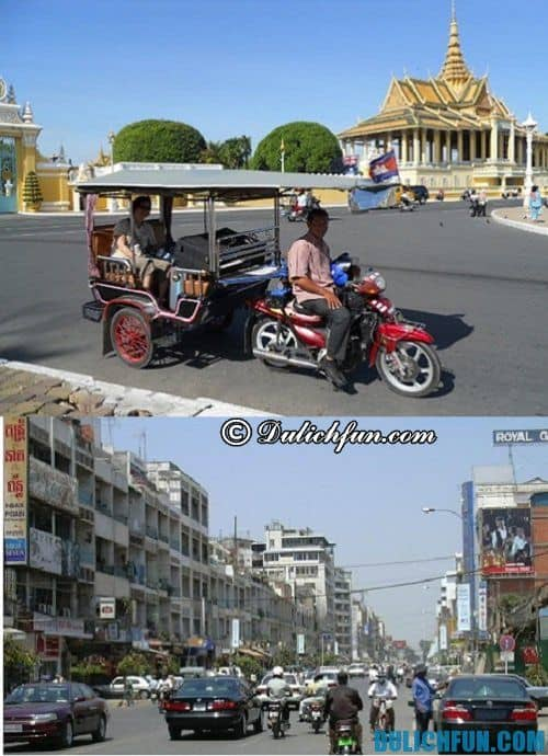 Du lịch Campuchia: Phương tiện đi lại ở Campuchia
