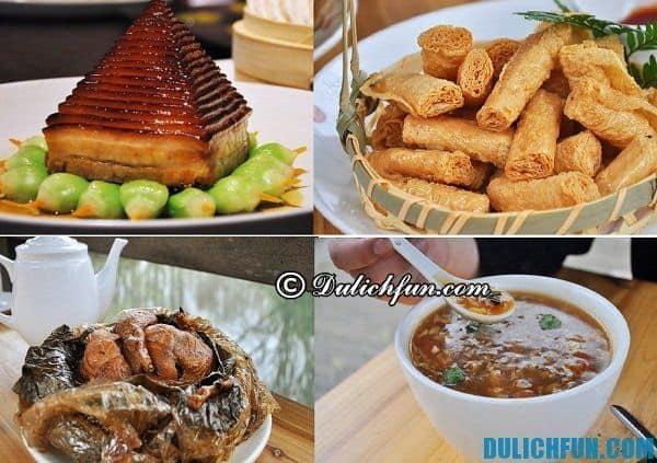 Kinh nghiệm du lịch Hàng Châu. Ẩm thực Hàng Châu. Món ăn ngon hấp dẫn ở Hàng Châu