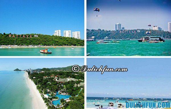 Top 5 bãi biển nổi tiếng đẹp ở Pattaya. Du lịch biển Pattaya, những bãi biển đẹp nhất ở Pattaya, nổi tiếng, đông đúc, vui vẻ