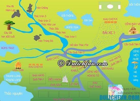 Bản đồ địa điểm du lịch Khoang Xanh Suối Tiên: Hướng dẫn đường đi đển Khoang Xanh, cách đi du lịch Khoang Xanh Suối Tiên