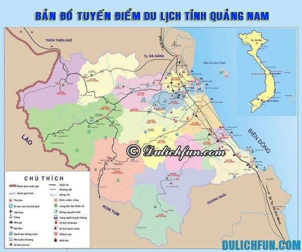 Bản đồ du lịch Quảng Nam, kinh nghiệm du lịch Quảng Nam