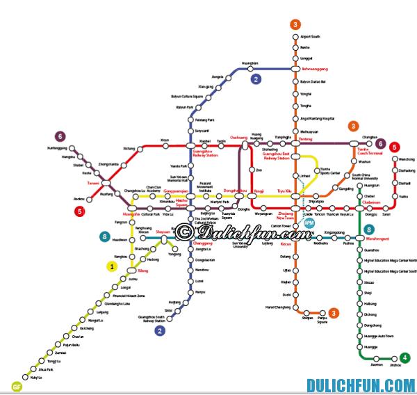 Kinh nghiệm sử dụng tàu điện ngầm ở Quảng Châu: Hướng dẫn cách di chuyển ở Quảng Châu bằng tàu điện ngầm