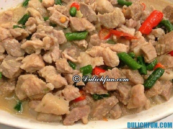 Bicol express Philippines, món ăn độc đáo trong ẩm thực Philippines, món ngon nổi tiếng ở Philippines