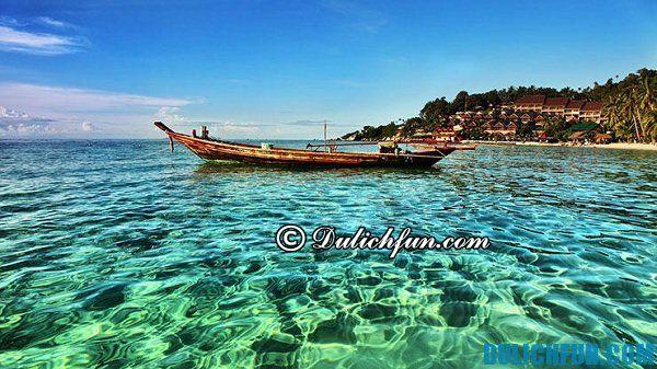 Bờ biển Koh Phangan- tổng hợp kinh nghiệm du lịch đảo Koh Samui vui vẻ, hấp dẫn