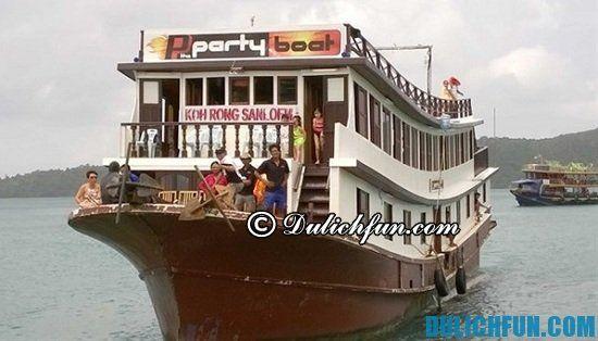 Phương tiện di chuyển tới điểm du lịch đảo Koh Rong Samloem. Một số kinh nghiệm du lịch Koh Rong Samloem. Gợi ý lịch trình du lịch Koh Rong Samloem