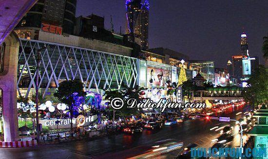 Central World, địa điểm mua sắm nổi tiếng ở Bangkok. Khu trung tâm mua sắm tốt nhất Bangkok