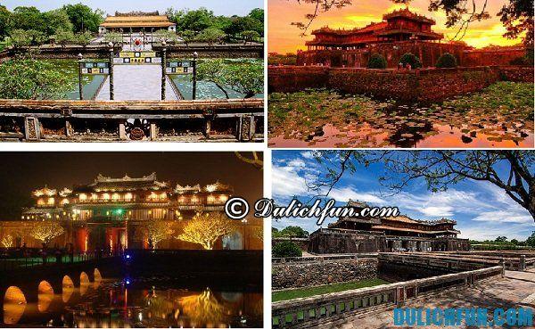 Đại Nội Huế - địa danh du lịch Huế nổi tiếng đẹp. Đi du lịch Huế chơi ở đâu đẹp, hấp dẫn
