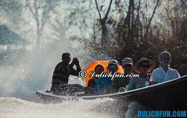 Hướng dẫn du lịch hồ Inle, Myanmar. Phương tiện di chuyển ở hồ Inle, Myanmar
