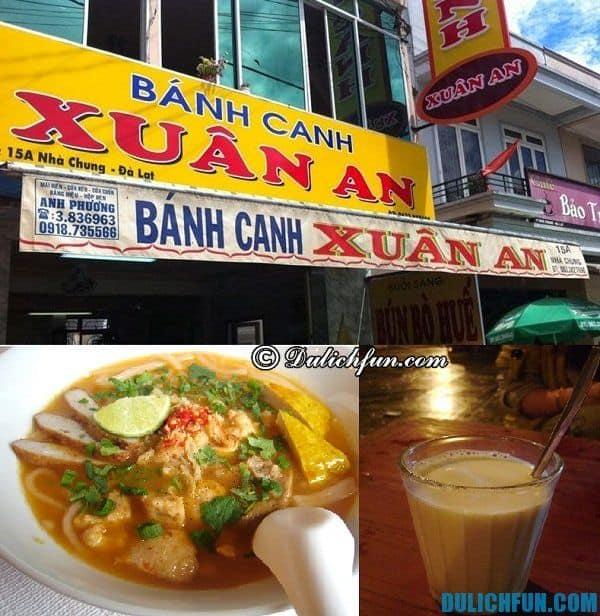 Địa chỉ ăn uống ngon, bổ, rẻ ở Đà Lạt: quán ăn nổi tiếng ở Đà Lạt