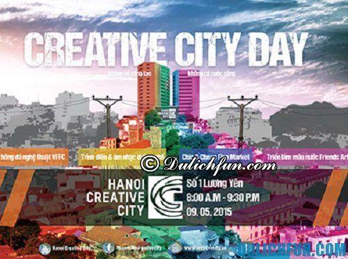 Địa điểm ăn chơi ở Hà Nội ngày cuối tuần Hanoi Creative City