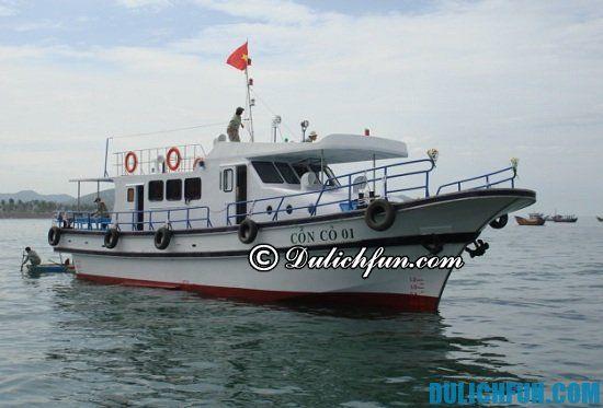Hướng dẫn đi tàu du lịch đảo Cồn Cỏ chi tiết: phương tiện đi du lịch đảo Cồn Cỏ