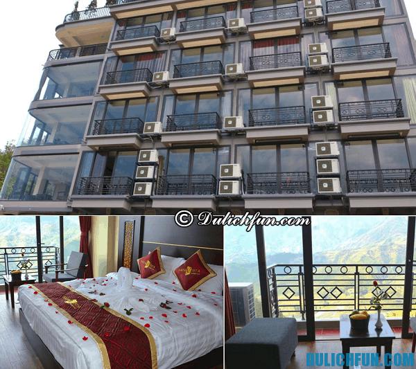 Thuê nhà nghỉ ở đâu để tiện du lịch Fansipan. Khách sạn đẹp ở Sapa gần Fansipan